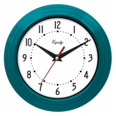 Aqua Pear Chatteris 8in Blue Wall Clock by LCT - PLR6498