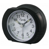 Cheadle Black Analog Alarm Clock - PLR6510