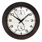 PLR 10in Indoor/Outdoor Wall Clock with Temperature and Humidity - PLR6522