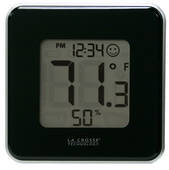 Aqua Pear Totton Indoor Comfort Level Station Wall & Desck Clock by LCT - PLR6344