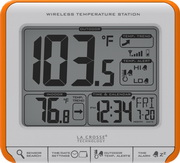PLR Royston Wireless Temperature Station Desk & Bedside Clock - PLR6350