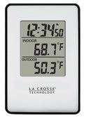 PLR Wellington Wireless Indoor Outdoor Thermometer Clock - PLR6352