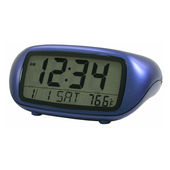Winterton LCD Digital Alarm with Temperature in Blue - PLR6394