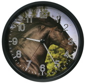 Telford 12in Wall Clock with Glowing Hands - Stallion - PLR6412
