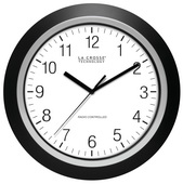 PLR 13.5in Analog Atomic Black Frame Clock - PLR6598
