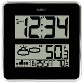Alsager Large Digit Atomic Clock with Outdoor Temperature and Forecast - PLR6600