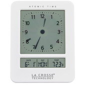 Aqua Pear Blackpool Atomic Digital Analog-Style Alarm Clock by LCT - PLR6614