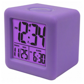 Aqua Pear Bromley Soft Cube LCD Alarm Clock by LCT - PLR6628