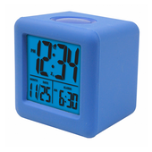 Aqua Pear Broseley Soft Cube LCD Alarm Clock by LCT - PLR6630