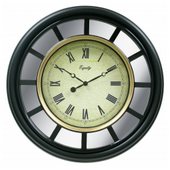 Aqua Pear Basingstoke 22in Mirror Clock by LCT - PLR6648