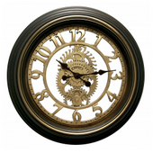 Aqua Pear Bawtry 20in Plastic Gears Clock by LCT - PLR6652