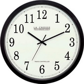 PLR Stretton 14inch Atomic Analog Wall Clock - PLR6212