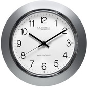 PLR Crawley 14in Atomic Wall Clock - Silver - PLR6386
