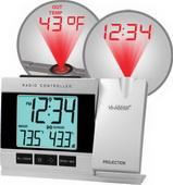 PLR Projection Alarm Clock with IN/OUT Temperature - PLR6768