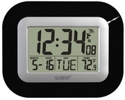 PLR Stockport Atomic Digital Wall & Desk Clock - Black - PLR6430