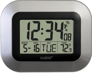 PLR Stamford Atomic Digital Wall Clock - Silver - PLR6432