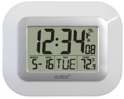 Stretford Atomic Digital Wall & Desk Clock - White - PLR6434