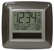 PLR Shepton Solar Atomic Digital Wall & Desk Clock - Gray - PLR6436