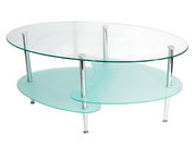 Designer 38 in. Wave Oval Coffee Table - PWA1047