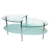 Designer 38 in. Mariner Oval Coffee Table - PWA1050