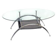 Designer 38 in. Black Mesh Coffee Table - PWA1053