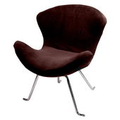 Designer Ultra Soft Wing Chair Brown (set of 2) - PWA1083