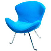 Designer Ultra Soft Wing Chair Light Blue (set of 2) - PWA1089