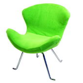 Designer Ultra Soft Wing Chair Lime (set of 2) - PWA1092