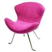 Designer Ultra Soft Wing Chair Pink (set of 2) - PWA1095
