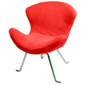Designer Ultra Soft Wing Chair Red (set of 2) - PWA1098