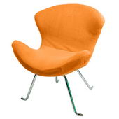 Designer Ultra Soft Wing Chair Tangerine (set of 2) - PWA1101