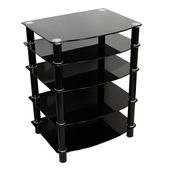 Designer Everest Black MultilevelComponent Stand - PWA1173