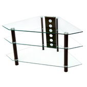 Designer 44 in. Bermuda Clear Black TV Stand - PWA1200