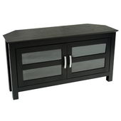 Designer 44 in. Castillo Corner Wood TV Console Black - PWA1224