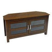 Designer 44 in. Castillo Corner Wood TV Console - Brown