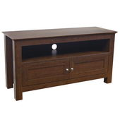 Designer 44 in. Cortez Wood TV Console - Brown