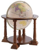 20in Zoffoli Antique Floor Globe - PZG6220