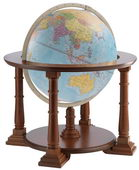 24in Zoffoli Blue Floor Globe - PZG6180