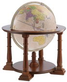 24in Zoffoli Antique Floor Globe - PZG6200