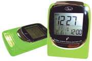 Global Sync Atomic Clock Green Digital Atomic Alarm Clock - RCA5606