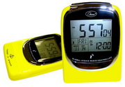 Global Sync Atomic Clock Yellow Digital Atomic Alarm Clock - RCA5608