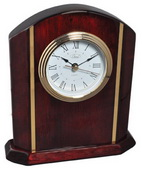 Royal Arch Mahogany and Rosewood Arched Clock with Gold Accents - RCA5614