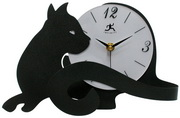 Cat Tail Black CatTabletop Clock - TFT5926