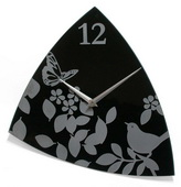 Butterfly and Bird Glass Wall Clock - TFT5930