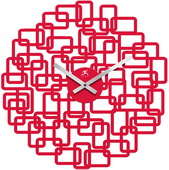 Red Geometric Wall Clock - TFT5934