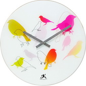 16in Colorful Bird Clock - TFT5950