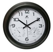 18in Modern Sleek Designed Indoor/Outdoor Wall Clock - TFT5857