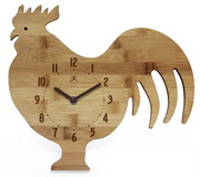 The Chef Bamboo Rooster Wall Clock - TFT5996