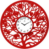 Red Oak 31in Red Wall Clock - TFT6034