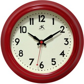 8.5in Red Silent Sweep Wall Clock - TFT6038